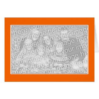 白いボーダー(写真フレーム)を持つオレンジ カード