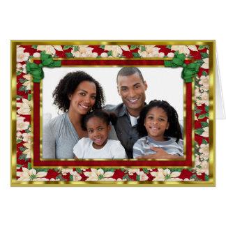 白いポインセチアのクリスマス カード