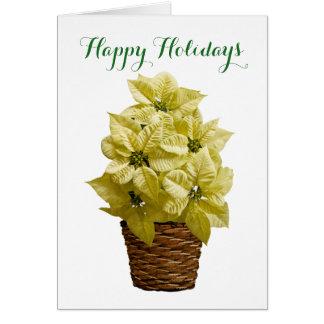 白いポインセチアの挨拶状 カード
