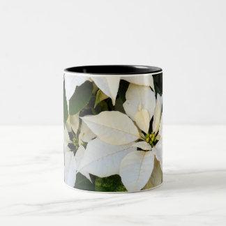 白いポインセチア ツートーンマグカップ