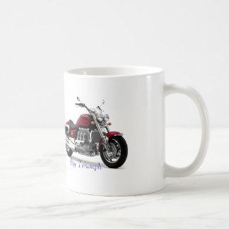 白いマグのためのモーターバイクのイメージ コーヒーマグカップ