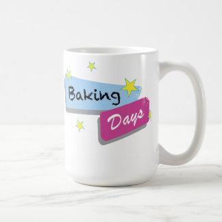 """白いマグ- """"ベーキング日""""の言葉遣い コーヒーマグカップ"""