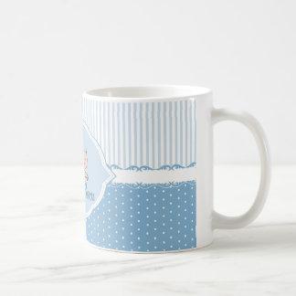 白いマグ-新生の男の子 コーヒーマグカップ