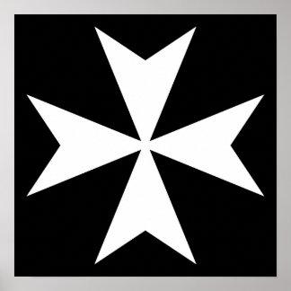 白いマルタ十字 ポスター