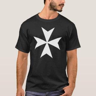 白いマルタ十字 Tシャツ