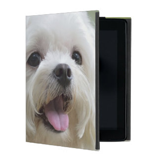 白いマルタ犬 iPad ケース