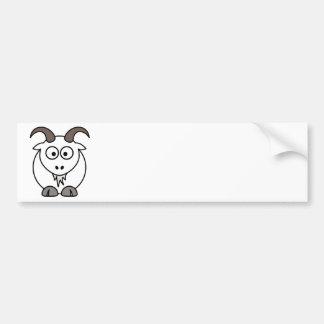 白いヤギの選択 バンパーステッカー