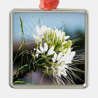 白いユリの花 メタルオーナメント