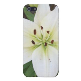 白いユリのIphone 4/4s Speckの場合 iPhone 5 カバー
