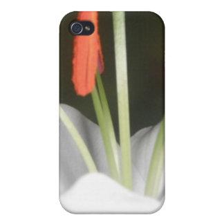 白いユリ iPhone 4 CASE