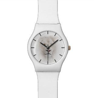 白いライオンの頭部May28thの腕時計 腕時計