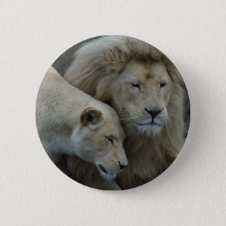 白いライオン 缶バッジ