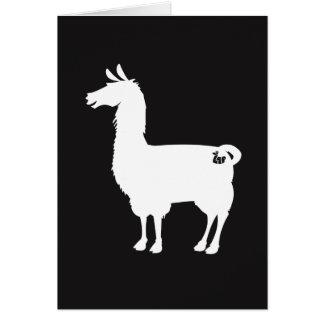 白いラマの挨拶状 カード
