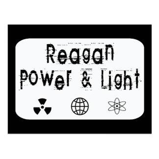 白いレーガン力およびライト ポストカード
