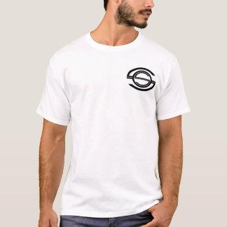 白いワイシャツのためのショーンO'Rourkeのロゴ Tシャツ