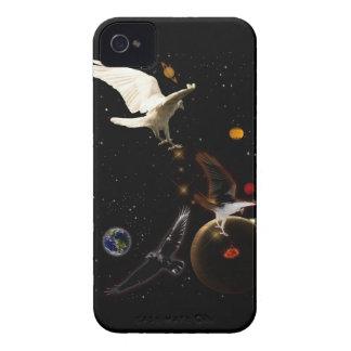 白いワタリガラスのファンタジーの野性生物のiPhoneの箱 Case-Mate iPhone 4 ケース