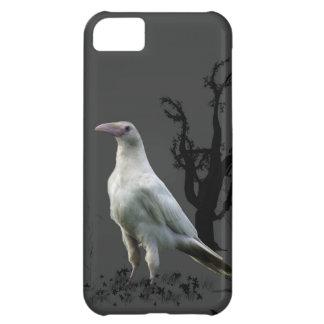 白いワタリガラス、野生の鳥、ファンタジー、ゴシック iPhone5Cケース