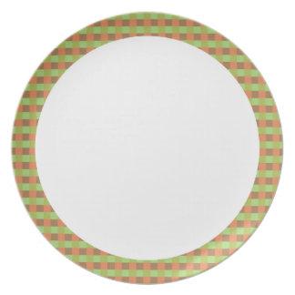 白い中心のプレートが付いている地球の調子の正方形 プレート