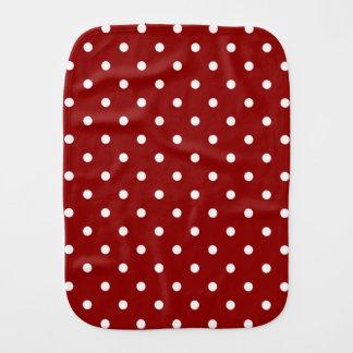 白い中心の小さく白い水玉模様の赤の背景 バープクロス
