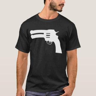 白い二重愛銃 Tシャツ