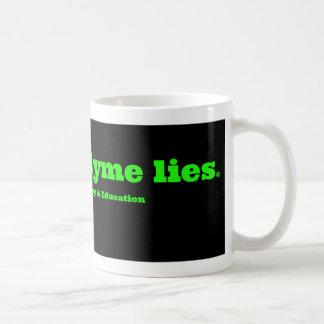 白い停止はLymeマグあります コーヒーマグカップ