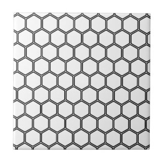 白い六角形3 タイル