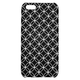 白い円パターン iPhone5Cケース