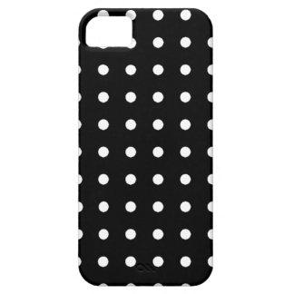 白い円-水玉模様 iPhone SE/5/5s ケース