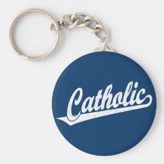 白い動揺してのカトリック教の原稿のロゴ キーホルダー
