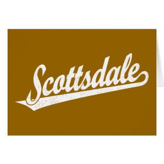 白い動揺してのスコッツデールの原稿のロゴ カード