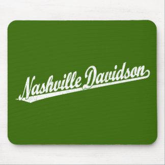 白い動揺してのナッシュビルデイヴィッドソンの原稿のロゴ マウスパッド