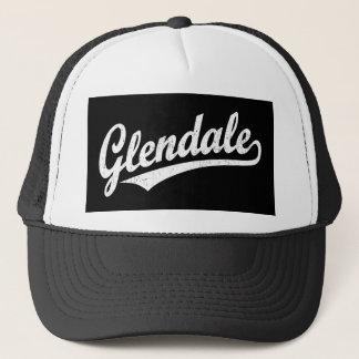 白い動揺してのGlendaleの原稿のロゴ キャップ