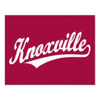 白い動揺してのKnoxvilleの原稿のロゴ カード