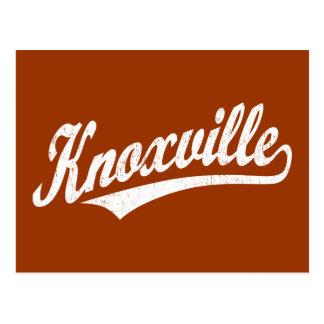 白い動揺してのKnoxvilleの原稿のロゴ ポストカード