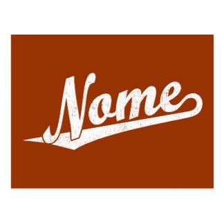 白い動揺してのNomeの原稿のロゴ ポストカード