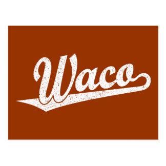 白い動揺してのWacoの原稿のロゴ ポストカード