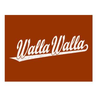 白い動揺してのWalla Wallaの原稿のロゴ ポストカード