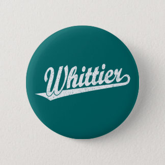 白い動揺してのWhittierの原稿のロゴ 5.7cm 丸型バッジ