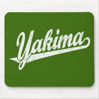 白い動揺してのYakimaの原稿のロゴ マウスパッド