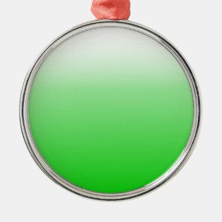 白い勾配#00cc00へのライムグリーン メタルオーナメント