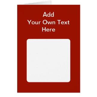 白い区域およびテキストとえんじ色 カード