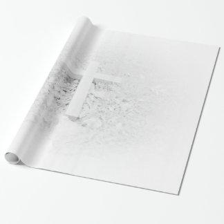 白い十字の包装紙 包み紙