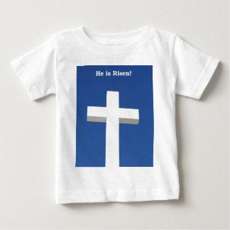 白い十字、イースター ベビーTシャツ