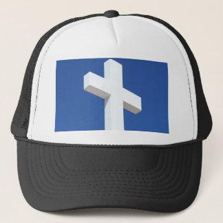 白い十字 キャップ