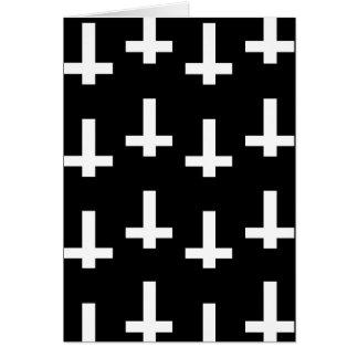 白い十字 グリーティングカード