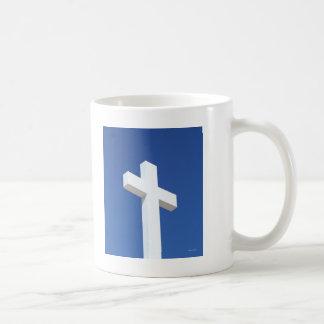 白い十字 コーヒーマグカップ