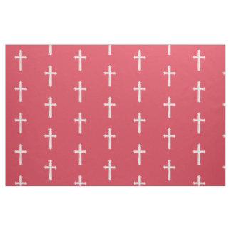 白い十字 ファブリック
