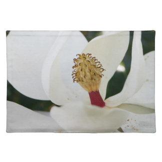 白い南マグノリアの花の花のランチョンマット ランチョンマット