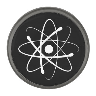 白い原子 ガンメタル ラペルピン