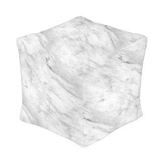 白い及び灰色の大理石の石 プーフ